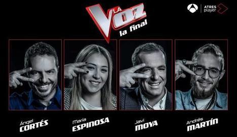 Els quatre candidats que han aconseguit convertir-se en finalistes del concurs de cantants.
