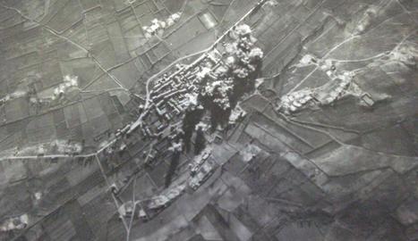 El consistori va recuperar aquesta imatge dels bombardejos.
