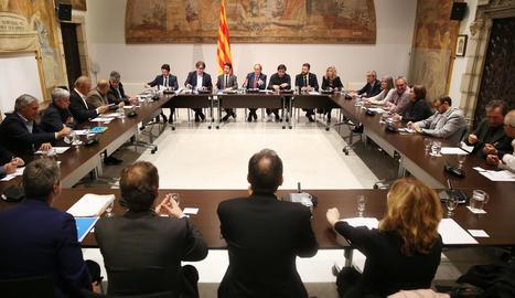 La reunió del president Torra amb els alcaldes del Pallars Sobirà.