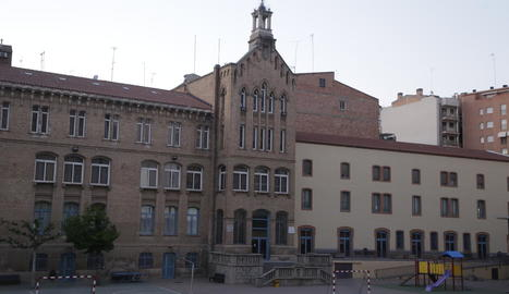 Vistes del col·legi lleidatà Maristes Montserrat, on suposadament hi va haver casos de pederàstia.