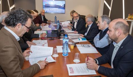 Un moment de la reunió del consell de Mercolleida.