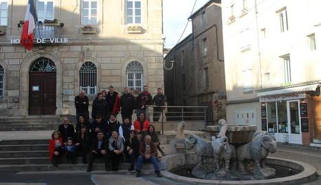 Imatge de la delegació lleidatana de ramaders.