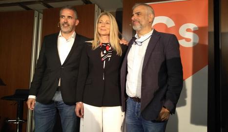 Soler, Burrel i Carrizosa, ahir a Lleida.