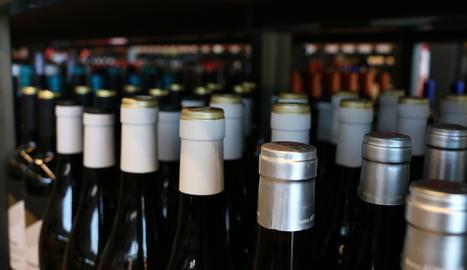 Una botiga de vins.