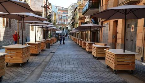 El carrer Bisbe Bernaus amb els nous expositors.