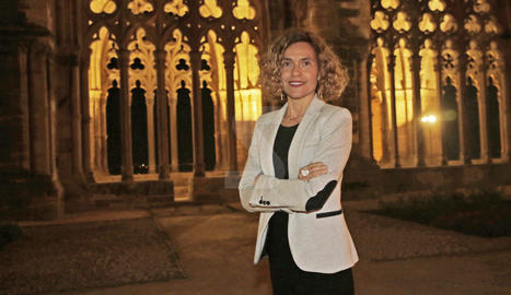 La ministra Meritxell Batet, en una visita recent a Lleida.