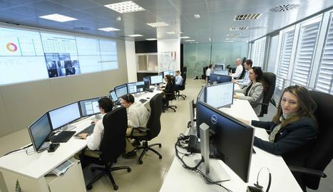 Treballadors del departament d'informàtica de Mercadona.