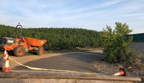 Imatge d'obres als camins municipals d'Aitona.