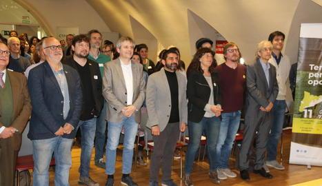 Els consellers d'Agricultura i Treball ahir a Solsona.