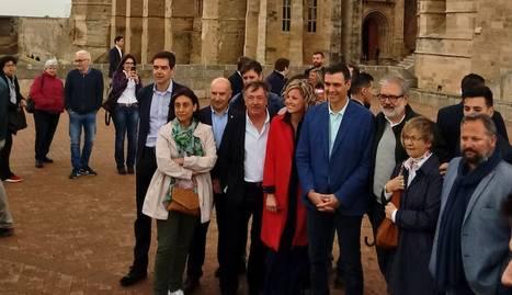 Pedro Sánchez visita la Seu Vella de Lleida