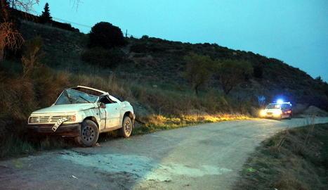 Estat en el qual va quedar el vehicle sinistrat divendres.