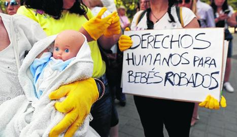 Imatge d'arxiu d'una protesta d'afectats a Madrid.