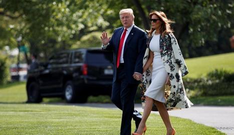 El president dels EUA, Donald Trump, amb la seua dona Melania.