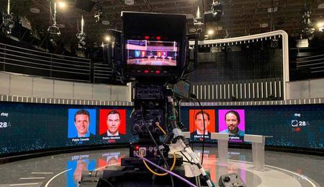 El plató del debat de TVE.