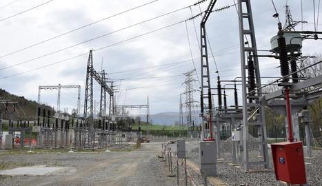 Imatge de les instal·lacions de la subestació que s'ampliarà.