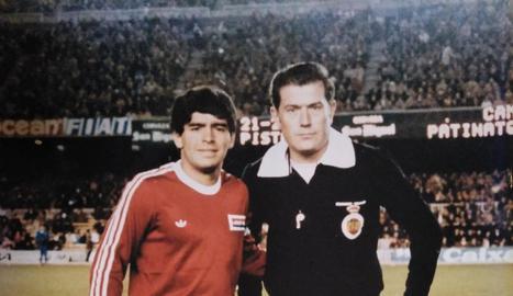 Andreu Molina Segovia i Xavier Estrada Fernández, els dos únics lleidatans que han xiulat a Primera.