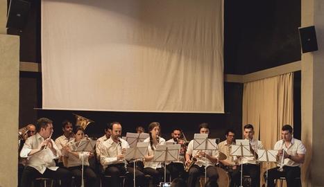 La Banda de Concabella, l'any passat durant la cita anual al castell.