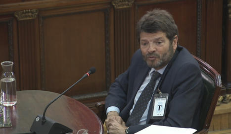 L'exdirector general dels Mossos d'Esquadra Albert Batlle, aquest dimecres al Suprem com a testimoni en el judici del 'procés'.