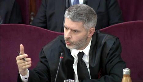 L'advocat d'Oriol Junqueras i Raül Romeva, Andreu van den Eynde.