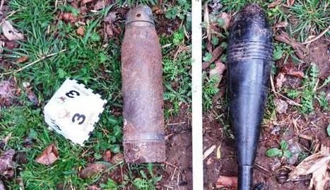 Troben dos projectils de la guerra civil en una torre abandonada a la Conca de Dalt