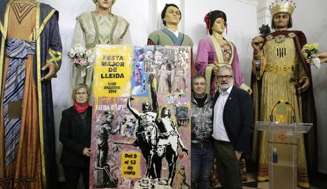 El cartell de les festes és obra de l'artista lleidatà Juan Manuel Pajares.