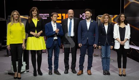© Debat a sis entre els candidats de Catalunya