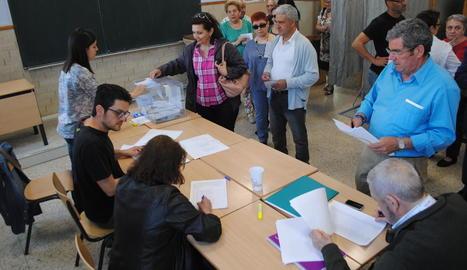 Imatge de les eleccions municipals del maig del 2015 a Mollerussa.