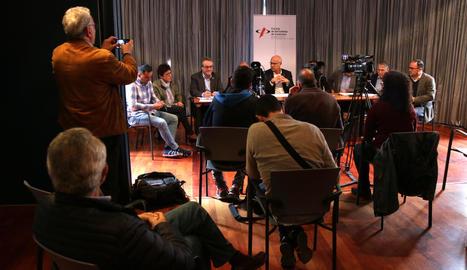 Imatge de la presentació, ahir, del col·lectiu Ribera d'Ebre 2030.