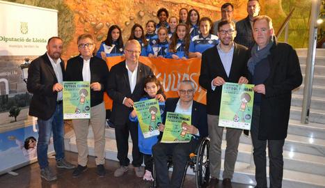 La nova edició de la Jornada de Futbol Femení es va presentar ahir a la Diputació de Lleida.