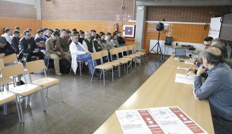 Conferència sobre la contaminació acústica, ahir.