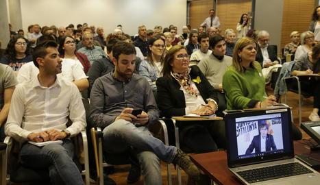 Al voltant d'un centenar de persones van assistir a la videoconferència celebrada a la UdL.