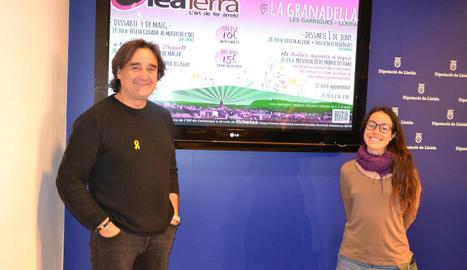 Presentació del festival amb Carles Gibert i Carla Roca.