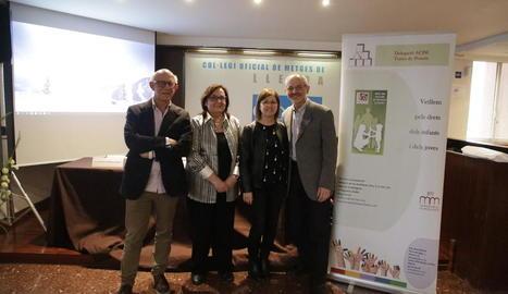 Conferència sobre el maltractament infantil per sacseig, ahir.