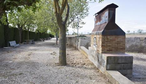 La zona del parc de l'Estany a Guissona.