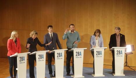 El debat a sis del grup SEGRE va servir de tancament de la campanya electoral.