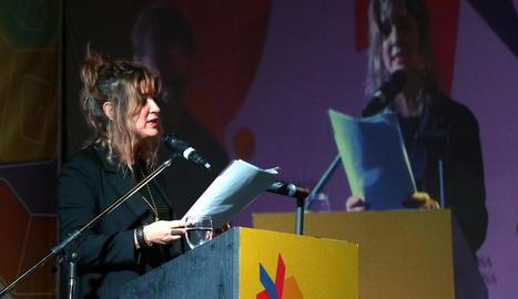 La directora de l'Institut Llull, Iolanda Batallé, a la inauguració.