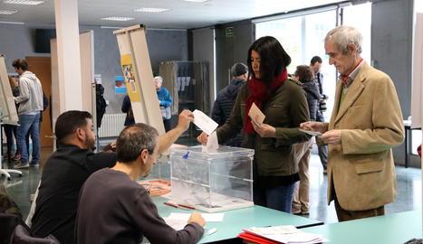 Un col·legi electoral aquest diumenge al matí.