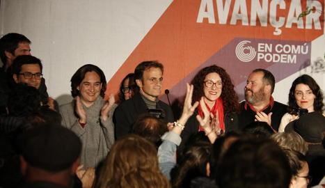 El candidat d'En Comú Podem, Jaume Asens, ahir a la nit.