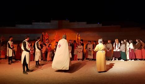 La representació de la llegenda de Sant Jordi a Puigverd de Lleida.