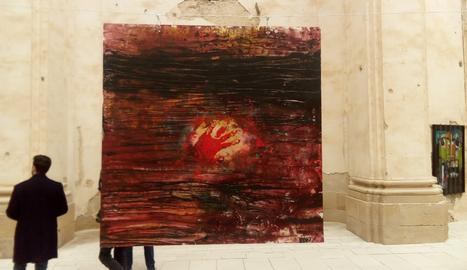 Pintures de 'Visions7' que es poden veure a la VI Biennal d'Art de Corbera d'Ebre.