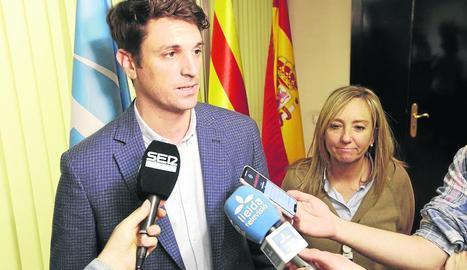Dante Pérez, davant de les càmeres.