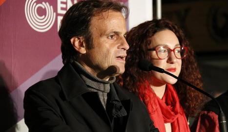 El candidat d'ECP, Jaume Asens, i la número 2, Aina Vidal.