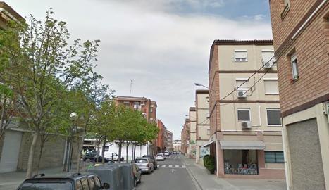 Imatge del carrer d'Àger del barri de la Bordeta de Lleida