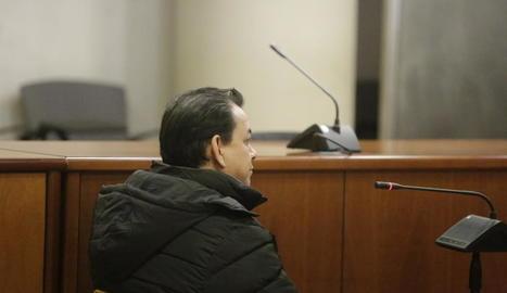 El condemnat, durant el judici que es va celebrar a l'Audiència.