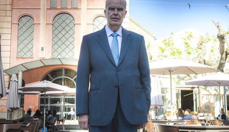 Antoni Tàcies, president de la recentment guardonada Societat Ateneu de Tàrrega.