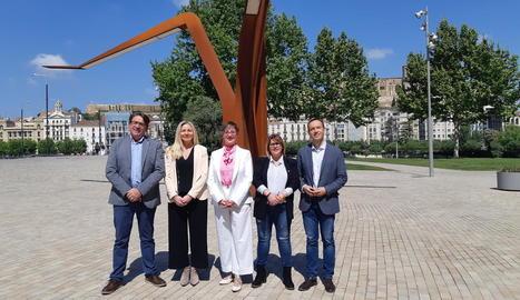 Els cinc primers membres de la candidatura de Ciutadans.