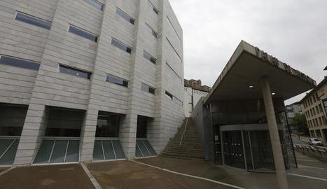 Els jutjats de Lleida, seu de la junta electoral lleidatana.