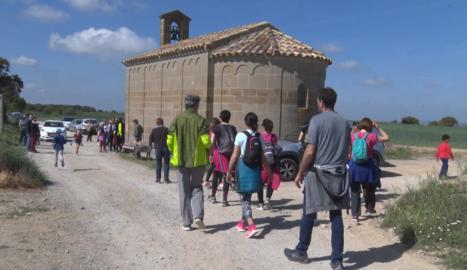 Èxit de la primera caminada familiar amb motiu de l'1 de maig a Guissona