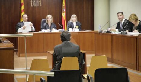 L'acusat, aquest dijous a l'Audiència de Lleida.