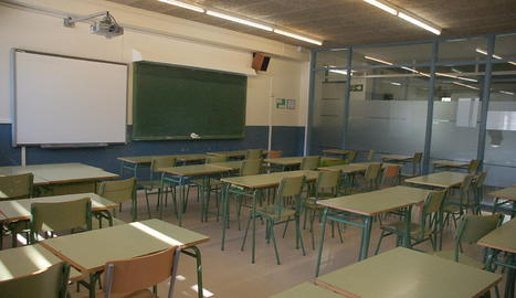Una aula buida.